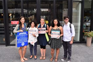 Image of BTU members on August 15 working to keep DACA.